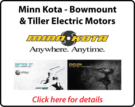 Minn Kota Bowmount & Transom Mount Tiller Electric Motors - Best Prices - Northside Marine - Brisbane - Queensland
